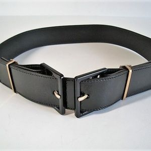 917a7d43eaf Yves Saint Laurent Accessories | Ysl Dark Brown Leather Belt W Gold ...